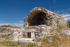 Ruiny antyczny miasteczko Halicarnassus teraz Bodrum zdjęcia stock