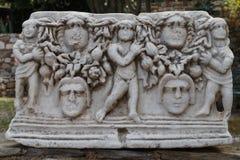 Ruiny antyczny miasteczko Halicarnassus teraz Bodrum obraz royalty free