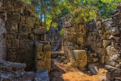 Ruiny antyczny miasteczko Phaselis Obraz Stock