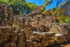 Ruiny antyczny miasteczko Phaselis Obraz Royalty Free