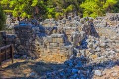 Ruiny antyczny miasteczko Phaselis Obrazy Royalty Free