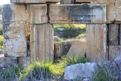 Ruiny Antyczny miasto Biblijny Kedesh w Izrael zdjęcie stock