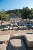 Ruiny antyczny miasto Ephesus staro?ytnego grka miasto w Turcja, w pi?knym letnim dniu zdjęcia stock