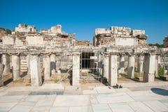 Ruiny antyczny miasto Ephesus staro?ytnego grka miasto w Turcja, w pi?knym letnim dniu fotografia royalty free