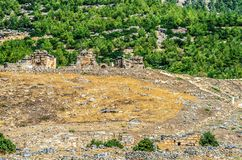 Ruiny antyczny miasto Hierapolis zdjęcia royalty free