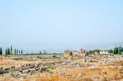 Ruiny antyczny miasto Hierapolis, Pamukkale fotografia royalty free