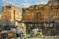 Ruiny antyczny miasto Hieropolis Obraz Royalty Free