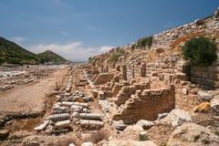 Ruiny antyczny miasto Knidos indyk Antykwarskie ekskawacje Zdjęcie Stock