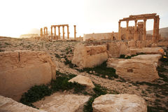 Ruiny antyczny miasto Palmyra - Syria Obraz Royalty Free