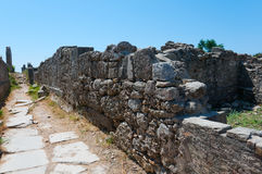 Ruiny antyczny miasto strona, Turcja Obrazy Stock
