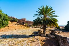 Ruiny antyczny necropolis Kellah Chellah w mieście Rabat, Maroko fotografia stock