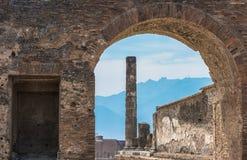 Ruiny antyczny Pompeii, Włochy Zdjęcie Stock