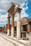 Ruiny antyczny Pompeii Włochy Zdjęcie Stock