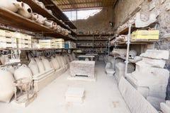 Ruiny antyczny Pompeii Włochy Zdjęcia Stock