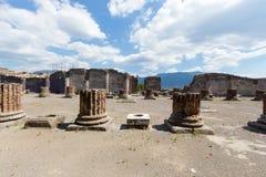 Ruiny antyczny Pompeii Włochy Obrazy Royalty Free