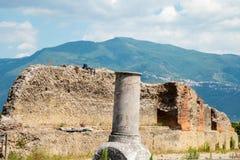 Ruiny antyczny Pompeii Włochy Obraz Stock