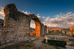Ruiny Antyczny Romański Salona Solin blisko Rozszczepiają, Dalamatia, Cro Fotografia Royalty Free