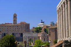 Ruiny antyczny Rzym, Włochy obraz stock