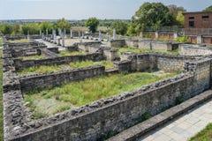 Ruiny antyczny rzymski osadniczy Abrittus, fotografia stock