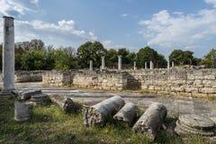 Ruiny antyczny rzymski osadniczy Abrittus, zdjęcia royalty free