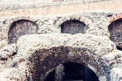 Ruiny antykwarski rzymski amfiteatr obraz royalty free