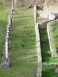 Ruiny antykwarski rzymski amfiteatr w Volterra, prowincja Pisa, Tuscany, Włochy obraz stock