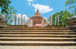 Ruiny Anuradhapura, Sri Lanka Zdjęcie Stock