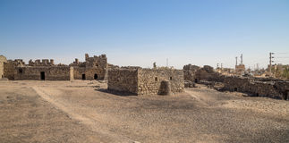 Ruiny Azraq kasztel, wschodni Jordania zdjęcie stock