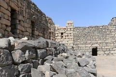 Ruiny Azraq kasztel, wschodni Jordania, 100 km na wschód od Amman zdjęcia royalty free