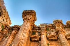 Ruiny Bacchus świątynia w Baalbek, Bekaa dolina Liban zdjęcie stock