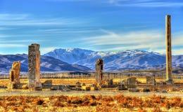 Ruiny baru Aam pałac przy antycznym Pasargadae Fotografia Royalty Free