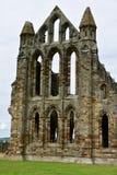 Ruiny Benedyktyński opactwo, lokalizować na malowniczych falezach Whitby obraz royalty free