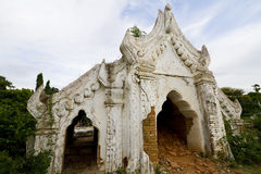 Biała stara świątynia, mingun, Myanmar Obrazy Royalty Free