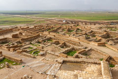Ruiny biblijny Beersheba, Tel Be& x27; er Sheva zdjęcia royalty free