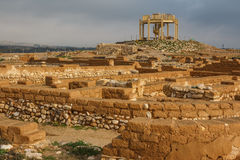 Ruiny biblijny Beersheba, Tel Be'er Sheva obrazy stock