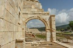 Ruiny bouleuterion w antycznym Lycian mieście Patara fotografia royalty free