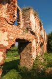 Ruiny Brandenburg kasztel w Ushakovo Obrazy Stock
