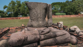 Ruiny Buddha statua Zdjęcia Stock