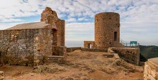 Ruiny Burriac kasztel Zdjęcie Royalty Free