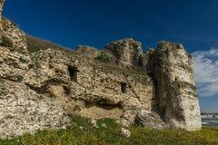 Ruiny Carsium - antyczny Romański forteca, zdjęcie stock