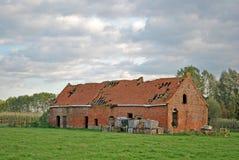 ruiny ceglana stara stajenka zdjęcia royalty free