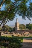 Ruiny Chellah necropolis rabat Maroko Zdjęcie Stock