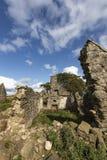 Ruiny Croft przy mech Tolophin blisko Auchindoir w Aberdeenshire, Szkocja zdjęcie stock