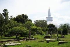 Ruiny Dagoba i Ruwanwelisaya Obraz Royalty Free