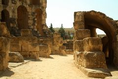 Ruiny dawno??, Tunezja, El Jem, amfiteatr zdjęcie royalty free