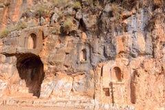 Ruiny dedykować niecka świątynia obraz royalty free