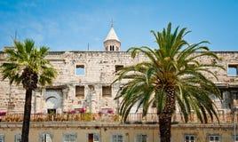 Ruiny Diocletian's pałac w rozłamu, Chorwacja zdjęcia royalty free