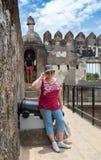 Ruiny dziejowy fort Jezus Mombasa, Kenja Obrazy Stock