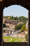 Ruiny Dziejowy miejsce w Rzym, Włochy Obrazy Stock