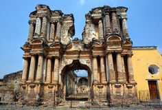 Ruiny El Carmen kościół Obrazy Royalty Free